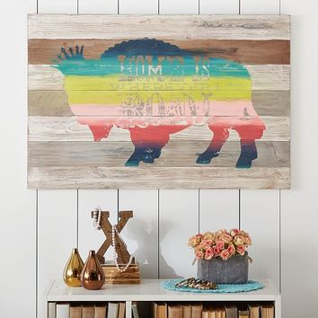 Junk Gypsy Home Is Wherever I Roam Wall Art