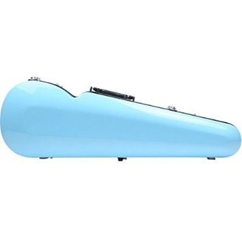 String House SG301SB Shaped Fiberglass Violin Case Sky Blue Full Size