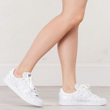 Adidas Women's Stan Smiths in White Black