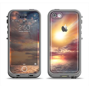 The Fiery Metorite Apple iPhone 5c LifeProof Fre Case Skin Set