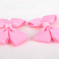 Unusual handmade textile bows hair bow brooch jewelry jewelry making supplies