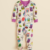 Hatley Infant Girls' Owl Print Footie - Sizes 0-24 Months