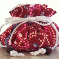 Drawstring Pouch Jewelry Pouch Necklace Fabric