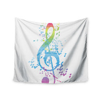 "Frederic Levy-Hadida ""Rainbow Key"" Multicolor Music Wall Tapestry"