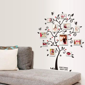 Flower Wall Stickers Frame Tree