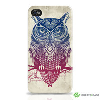 "Artist Designed Hardcase - iPhone 4s / Samsung Galaxy s2 case / cover / shell - ""Warrior Owl"""