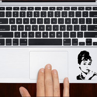 "Audrey hepburn small m620 Decal Sticker Vinyl For Macbook Pro Air Retina 13"" 15"" 17"" Inches Keyboard/Keypad Cover"