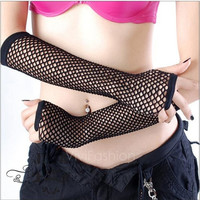 Sexy Long Fishnet Gloves Dance Gloves Fashion Accessory Black Mesh Gloves Fingerless Elegant Look VVF = 1957990084