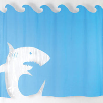 Jaws Shower Curtain | Shark Shower Curtain | fredflare.com