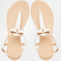 Oasis Bow Front Flat Sandals at asos.com