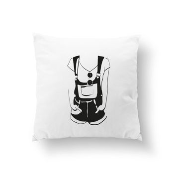 Dungarees Glasses Pillow, Cushion Cover, Fashion Chic, Throw Pillow, Country Style, Decorative Pillow, Fashion Illustration, Fashion Pillow