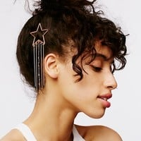 Free People Chain Fringe Shape Barrette