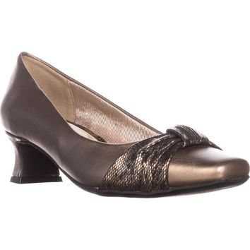 Easy Street Waive Kitten Pump Heels, Bronze, 5.5 US
