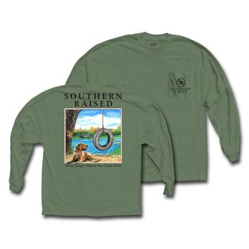 """Southern Raised """"Tire Swing"""" Tee on Comfort Colors Long Sleeve"""
