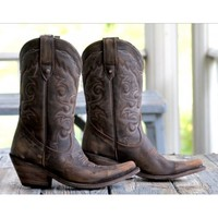 Pre-Order Liberty Black Vintage Dark Cowboy Boot