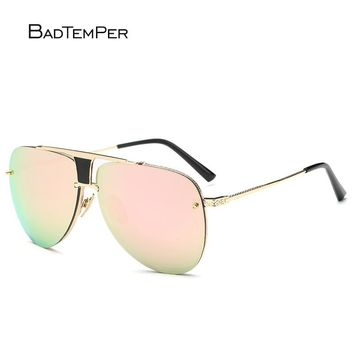 Men / Women's Luxury Retro Designer Brand Oval Mirror Sunglasses