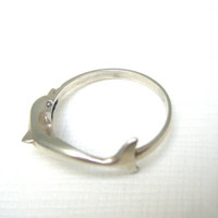Sterling silver dolphine ring