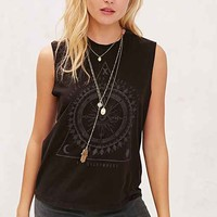 Truly Madly Deeply Eye Of Fortune Muscle Tee- Grey