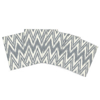 "Heidi Jennings ""Tribal Chevron Gray"" Outdoor Placemat (Set of 4) - Outlet Item"
