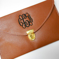 Monogram Clutch Purse Font Shown INTERLOCKING