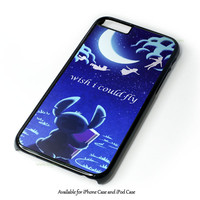 Hawaiian Culture In Stitch-Peter Pan Flying Quote Design for iPhone and iPod Touch Case