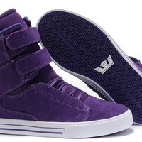 Purple Society Supra Justin Bieber shoes Skateboard Shoes