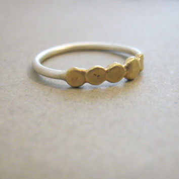 silver and brass ring, delicate hand made ring, wedding ring, everyday simple jewelry, baladi, designer jewelry, original