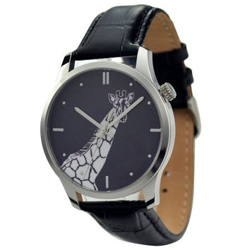 Giraffe Watch B/W big size - Free shipping
