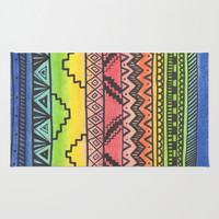 Tribal #3 Area & Throw Rug by haleyivers | Society6