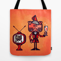 Lounge Pig Tote Bag by chobopop