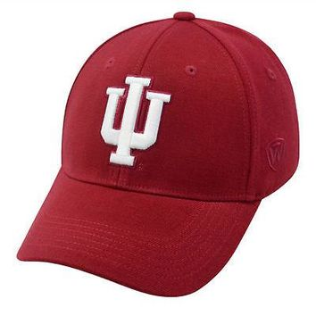 Licensed Indiana Hoosiers Official NCAA One Fit Wool Hat Cap by Top of the World 264240 KO_19_1