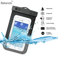 """Waterproof Case For iphone 6 6 Plus Universal 5.5"""" Underwater Cell Phone Pouch Dry Bag For Samsung HTC Huawei Waterproof bag"""