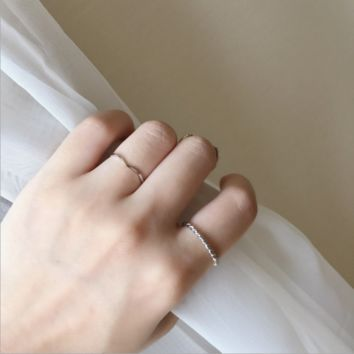 Ripple simple combination ring, women's new thin ring ring