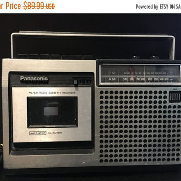 5 DAY SALE (Ends Soon) VIntage 1977 Panasonic AM/Fm/Cassette player/recorder model Rq 542As- tested and working