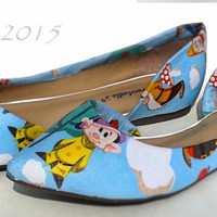 7 Dwarfs-Snow White-Women's Flats-Spring Custom Shoes-Wedding shoes-Gifts for her