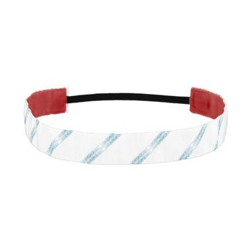 Border 1 blue athletic headband