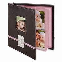 Brown Leather Baby Holds 104-4x6 Photo Album