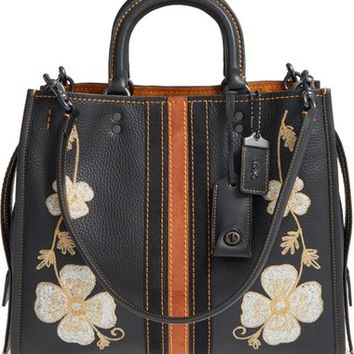 COACH 1941 'Rogue - Western Embroidery' Leather Satchel | Nordstrom