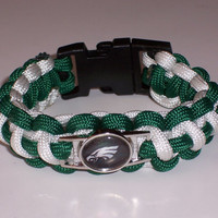 Philadelphia Eagles Paracord Bracelet Custom Made