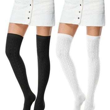 I Wish Women's Fashion Extra Over Knee High Thigh High Cotton Socks
