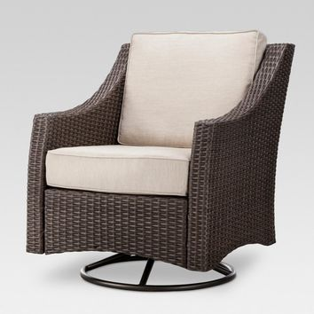 Belvedere Wicker Patio Swivel Club Chair - Threshold™