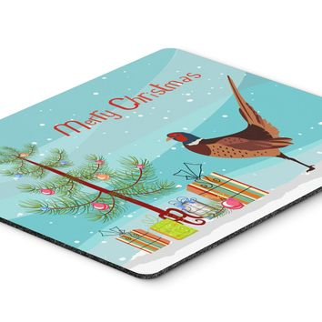 Ring-necked Common Pheasant Christmas Mouse Pad, Hot Pad or Trivet BB9297MP