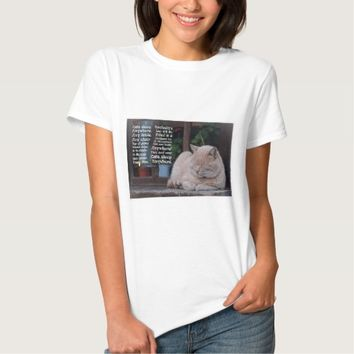Cats Sleep Anywhere - Poem Image Quote T-Shirt