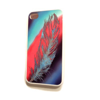 Rubber Case for iPhone 4 4S Feathers Free Spirit Ships from USA