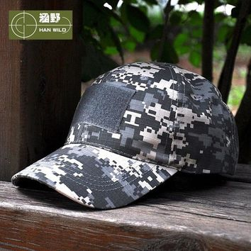 Unisex Camouflage Snapback Tactical Hat Patch Army Baseball Men Women Cap