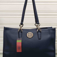 Tory Burch  Women Leather Flower Print Shopping Tote Handbag Shoulder Bag