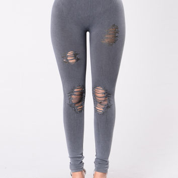 Ripped to Shreds Leggings - Indigo
