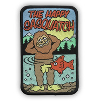 HAPPY SASQUATCH Iron-On Patch