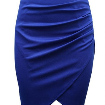 2015 New Fashion Women's Business Suit Pencil Skirt Summer OL Skirts For Women Knee Length Step Skirt = 1946200260