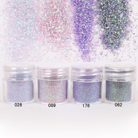 1 Jar/Box 10ml Nail Colorful Pink Purple Nail Glitter Fine Powder For Nail Art Decoration Optional 300 Colors Factory 4-58